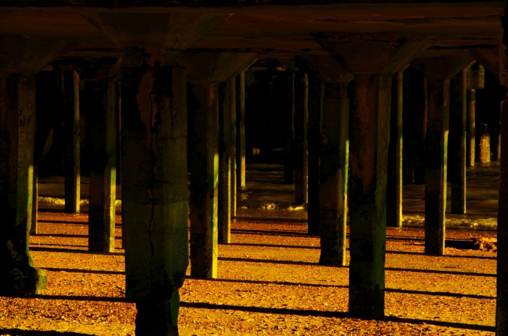 Under the boardwalk, Clacton - On - Sea.