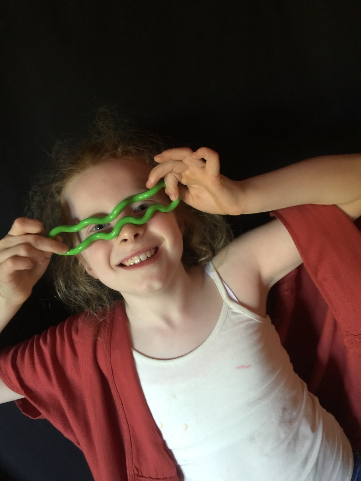 Making a spectacle of herself